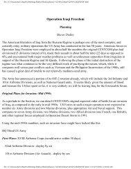 Operation Iraqi Freedom - Orders of Battle
