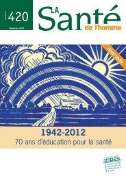 La Santé de l'homme - n° 420 - Hors-série - septembre 2012 - Inpes