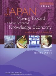 Japan, Moving Toward a More Advanced Knowledge Economy ...