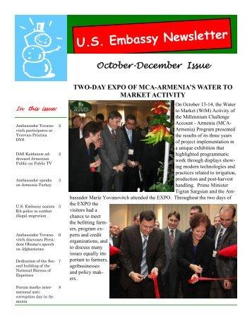 Embassy Newsletter October-December 2009 (PDF 705 KB)