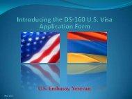 Presentation - Embassy of the United States Yerevan, Armenia