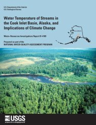 Water Temperature of Streams in the Cook Inlet Basin, Alaska, and ...