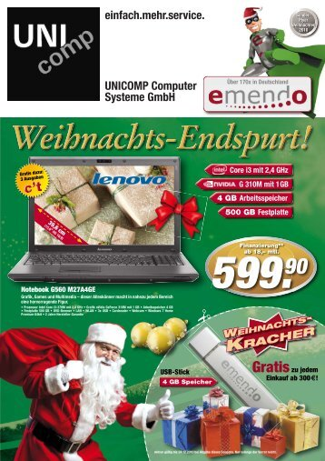 WEIHNACHTS - Unicomp Computer Systeme GmbH