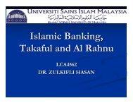 Islamic Banking, Takaful and Al Rahnu