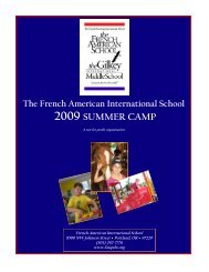 2009 SUMMER CAMP - French American International School