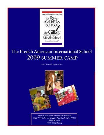 2009 SUMMER CAMP - French American International School