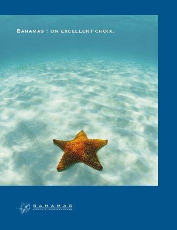 Bahamas : un excellent choix. - Bahamas Financial Services Board