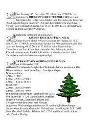 Am Samstag, 03. Dezember 2011 findet um 17.00 Uhr das ...