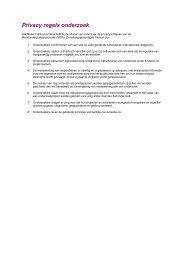 Privacyregels onderzoek - Mulier Instituut