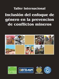Inclusión del enfoque de género en la prevención - gecomin