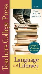 Request exam copies online - Teachers College Press