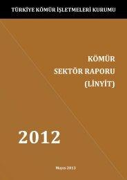 kömür sektör raporu - Enerji ve Tabii Kaynaklar Bakanlığı