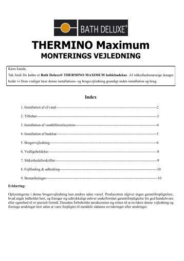 THERMINO Maximum - Bath Deluxe