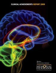 CliniCal aChievements RepoRt 2009 - Mischer Neuroscience Institute