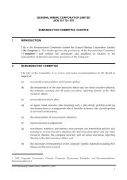 Remuneration Committee charter - General Mining