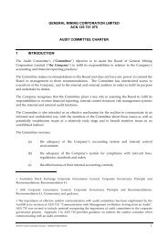 Audit Committee charter - General Mining