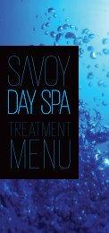 TREATMENT - Savoy Day Spa