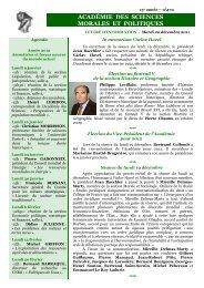 Mardi 20 décembre 2011 - Académie des sciences morales et ...