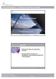 VSV Herbstseminar E-Commerce Ausblick und Trends
