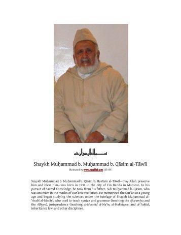 Shaykh Muhammad al-Tawil - ma'rifah