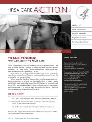 Transitioning from Adolescent to Adult Care - HRSA HIV/AIDS ...