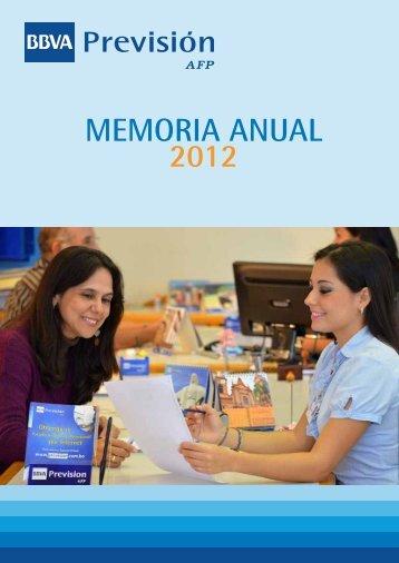 2012 MEMORIA ANUAL - BBVA Previsión AFP