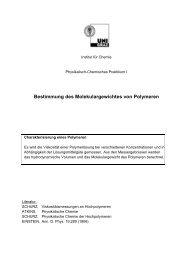 Bestimmung des Molekulargewichtes von Polymeren - CePoL/MC ...