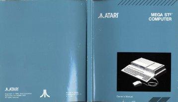 Mega STE Owners Manual (C302016-001 REV. B) [1991] - Atari ...