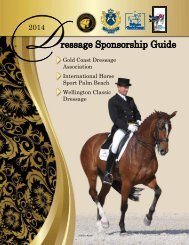 2013 Sponsorship Guide - Wellington Classic Dressage Challenge