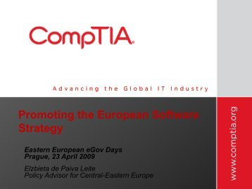 Promoting the European Software Industry - EPMA