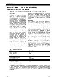 health effects from phthalates: epidemiological evidence