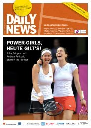 POWER-GIRLS, HEUTE GILT'S! - Porsche Tennis Grand Prix