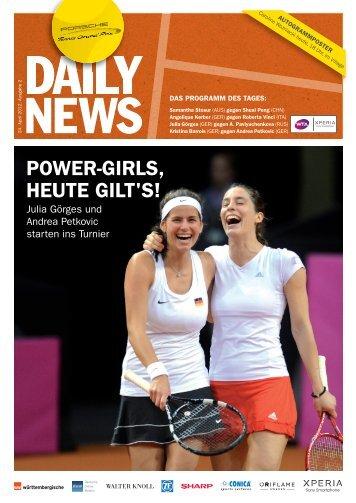 POWER-GIRLS, HEUTE GILT'S! - Porsche Tennis Grand Prix