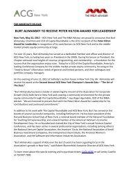 burt alimansky to receive peter hilton award for leadership