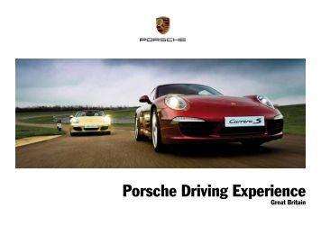 Porsche Driving Experience Brochure