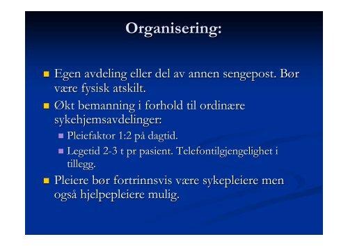 Palliativ enhet på sykehjem. Organisering ... - Ous-research.no