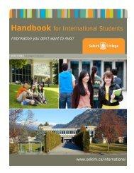 International Student Handbook - Selkirk College
