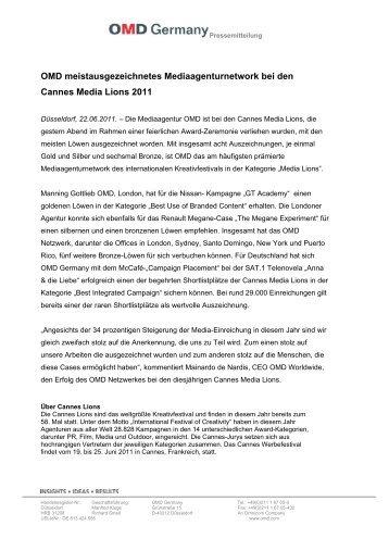 Pressemitteilung als PDF - OMD