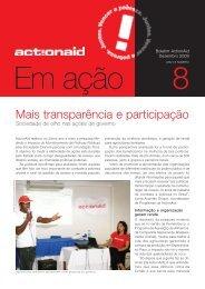 Mais transparência e participação - ActionAid Brasil