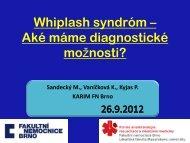 Čo je Whiplash syndróm? - AKUTNE.CZ