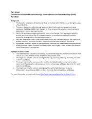 Fact sheet - The Canadian Association of Gastroenterology