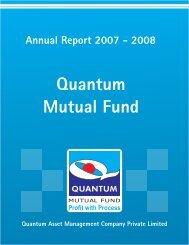 2007 - 2008 - Quantum Mutual Fund