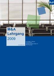 M&A Lehrgang 2009 - P+P Pöllath + Partners