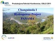 Changuinola I Hydropower Project PANAMA - Energi Norge