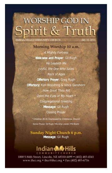 News June 29 - Indian Hills Community Church