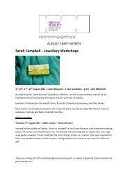 Sarah Campbell – Jewellery Workshops