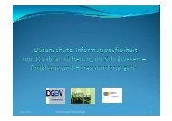 Datenschutz, Informationsfreiheit und Qualitätssicherung im ... - DGBV
