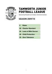 TAMWORTH JUNIOR FOOTBALL LEAGUE - The Football Association