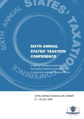 Sixth Annual States' Taxation Conference - Department of Finance