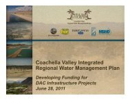 Coachella Valley Integrated Regional Water Management Plan - ICWT
